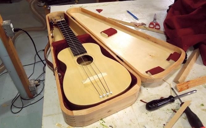 pembuatan gitar dengan pabrik lem kayu untuk gitar crossbond