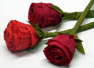 bunga mawar kertas