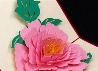 kartu pop up bunga
