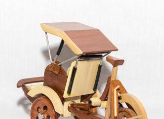 miniature becak
